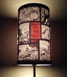 Comic Strip Lampshade Will Light Up Your Life