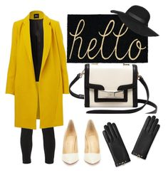 yellow black by hilorine on Polyvore featuring polyvore fashion style J Brand Christian Louboutin Kate Spade Topshop clothing