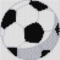 Soccer Ball x-stitch Cross Stitch Alphabet, Cross Stitch Baby, Counted Cross Stitch Patterns, Cross Stitch Charts, Cross Stitch Designs, Perler Patterns, Loom Patterns, Cross Stitch Calculator, Chart Design