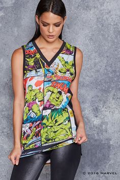 Smashing is what Hulk does best!These are unisex, so blokes: get on it. might want to order up a size though, so it has that cool oversize look going on. ** This is a limited product – once it's gone, it's gone forever, so get in quic Superhero Fashion, Hulk Smash, Black Milk Clothing, Marvel X, Catsuit, Torrid, Shirt Designs, Cute Outfits, Tank Tops