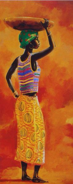 African beauty Canvas Art - Renee x 3 Canvas Art, African Art Paintings, Contemporary African Art, African Theme, Art Africain, Africa Art, African American Art, Mural Art, African Beauty