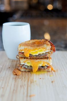 Breakfast Grilled Cheese Sandwich