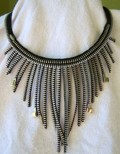 Zipper Necklace by KariMcMurphy on Etsy