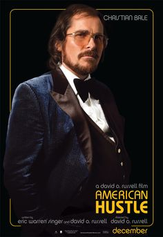 AMERICAN HUSTLE Christian Bale poster PICTURES PHOTOS and IMAGES