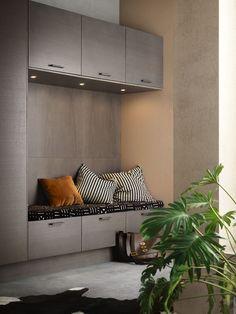 Arkitektkök - Åsa Dyberg tolkar Ballingslöv. Ett kök som är mer än kök. Genom att blanda svartbetsad och grålaserad ek suddas gränsen mellan köksinredning och vardagsrum ut, rummet fortsätter ända ut i hallen.