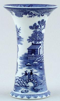 Vase c1920  Masons  Blue Chinese Landscape