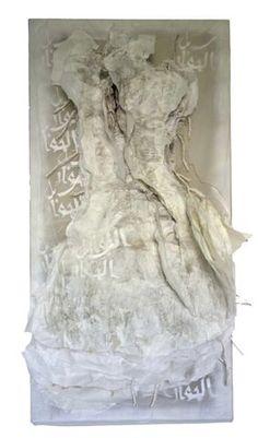 """Florence Arnold  ~ """"Les chemins du dialogue"""" (2014) Mixed media 120 x 60 cm via Galerie Pierre Marie Vitoux"""