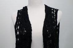 NWT Vertigo Black Knit Cardigan Sweater Size XL #Vertigo #VestSleeveless