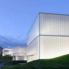 The extension to the Nelson-Atkins Museum of Art in Kansas City is an impressive example of the use of translucent but opaque glass facades.