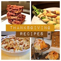 Some different ideas for Thanksgiving.
