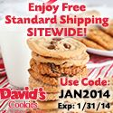 David's Cookies Offers FREE Standard Shipping in January!