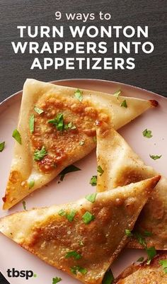 From Cheesy Wonton Quesadillas to Samoa Potstickers, we can't stop transforming wonton wrappers into insanely addicting appetizers. Finger Food Appetizers, Appetizers For Party, Finger Foods, Wonton Appetizers, Italian Appetizers, Wonton Recipes, Appetizer Recipes, Wanton Wrapper Recipes, Recipes With Egg Roll Wrappers