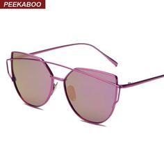 Metal cat eye sunglasses polarized women rose gold silver purple brand  woman sunglasses polarized uv 400 brand oculos polarizado 6448a01d18