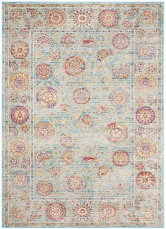 SEV812C Rug from Sevilla collection.  Made in Belgium from luxurious, silky, natural viscose, the Seville collection is a modern twist on classic motifs. With a wide range of bright and vibrant colors, these rugs combine modern day colors with traditional Persian motifs that are made with a vintage look.  Soft underfoot and perfect for  every room, the Seville collection will give your home the perfect amount of old meets new.