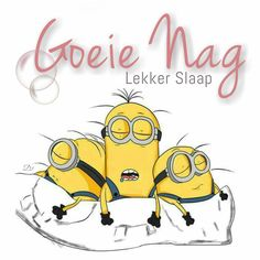 Minion 2, Goeie Nag, Afrikaans Quotes, Good Night Quotes, Wisdom Quotes, Sweet Dreams, Good Morning, Disney Characters, Fictional Characters
