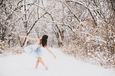 ballet in the snow. love these dance photos