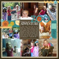 Zoo Adventure - Club CK - The Online Community and Scrapbook Club from Creating Keepsakes