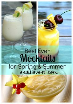 Need some delicious, refreshing non-alcoholic drink ideas?  Try my Best Ever Mocktails!  They'll be the hit of the party!