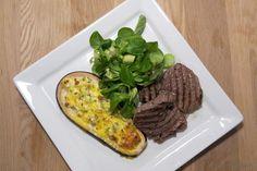 EGOSHE.dk - En madblog med South Beach opskrifter og andet godt...: Oksemørbradbøf med toppet aubergine
