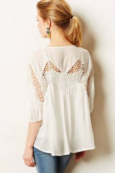 Eyelet Lantern Blouse - anthropologie.com