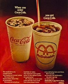 nice Ad Vintage Advertisement McDonalds Coca Cola by Christian Montone, via Fli. Old Advertisements, Retro Advertising, Retro Ads, Vintage Ads, Vintage Prints, Vintage Menu, Retro Food, Advertising Campaign, Vintage Paper