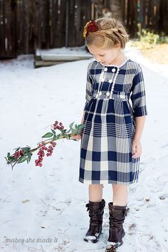 I heart this! This would make a darling Christmas dress or really for any time of year.  Charlotte Dress and Jacket pattern sewn by Mabey She Made it: