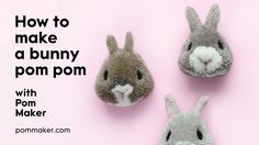 How To Make A Bunny Pompom - Pom Maker Tutorial