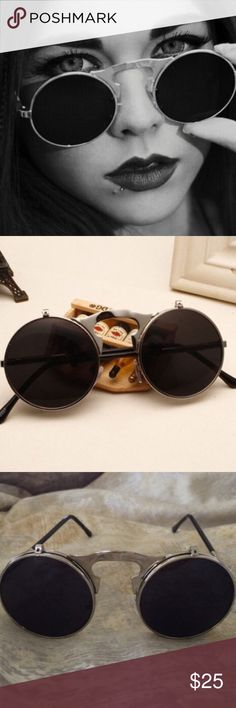 Brand new flip up sunglasses Super in for the summer!!! Looks super expensive! Brand new flip up sunglasses!!! No trades! Posh only! No try ons!!! With free sunglasses bag! B LF Accessories Sunglasses