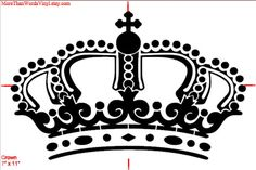 Royal Crown  French Crown French Stencil  by MoreThanWordsVinyl, $12.00