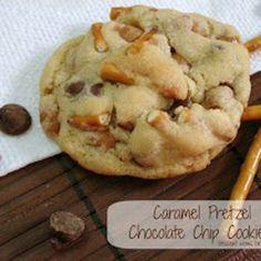 Caramel Pretzel Chocolate Chip Cookies Recipe from Dessert Now, Dinner Later!