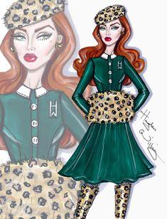 Hayden Williams Fashion Illustrations: 'Wild At Heart' by Hayden Williams