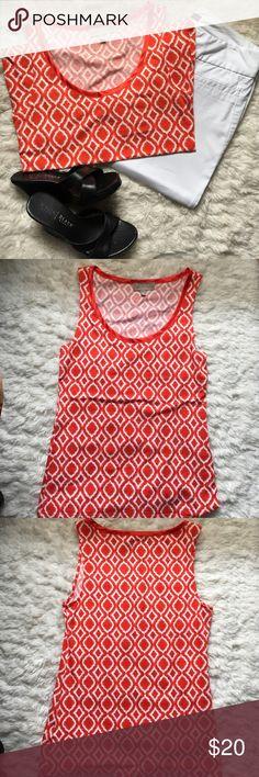 Banana Republic Sleeveless Shirt Banana Republic Sleeveless Shirt Size M Color Orange and White Banana Republic Tops