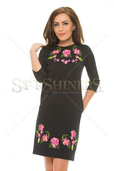 StarShinerS Brodata Bahamas Black Dress Bohemian Look, Fall Collections, Fall Wardrobe, Clothing Items, Cold Shoulder Dress, Dresses For Work, Tunic Tops, Summer Vibes, Casual