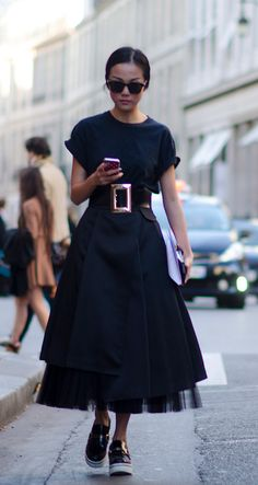 Full skirt with Stella Mccartney shoes #pixiemarket