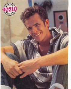 """Luke Perry...  Oh yeah...""""Dylan""""!!  Was obssessed with this show & had this exact poster on my wall! Circa 1990."""