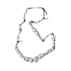 08dab2f9638 AUTHENTIC CHANEL RUNWAY CRYSTAL CC SUPERMARKET FISHNET PEARL NECKLACE - Necklaces    Pendants
