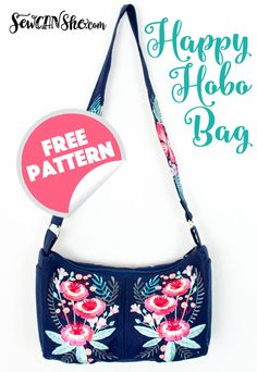 Make Hobo Bag Free sewing pattern: Happy Hobo bag - Caroline from Sew Can She created this gorgeous Hobo style bag, and she's sharing the free sewing pattern and tutorial! The bag is packed with the kind of details to make this your favorite … Hobo Bag Patterns, Purse Patterns Free, Bag Pattern Free, Handbag Patterns, Pattern Sewing, Pattern Ideas, Sewing Projects For Beginners, Sewing Tutorials, Sewing Tips