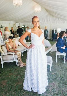 "Begitta -Bridal & Couture featured down the aisle at A Darling Affair  ""The White Collection"" worn by Emma! View the lot on HELLO MAY: A DARLING AFFAIR SUNSHINE COAST WRAP UP"