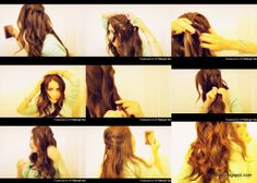 Step-by-Step hair tutorial French Fishtail Braid Waterfall Braid formal occasion, wedding hairstyles updos on yourself
