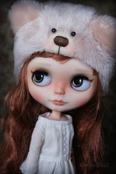 OOAK Custom Blythe doll, hand painted art doll by AlmondDoll on Etsy, $1,112.97