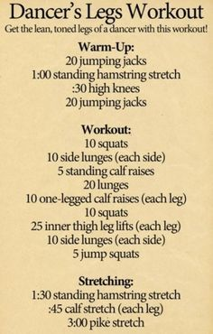 Want to show off your legs in that short reception dress? No stress with this intense leg workout. Your calves and thighs will rival Michael Flatley Dancer Leg Workouts, Ballet Workouts, Fitness Diet, Fitness Motivation, Fitness Legs, Health Fitness, Jumping Jacks Workout, Smaller Thighs, Smaller Calves