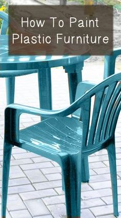 11 Things You Didn't Know You Could Paint - Painted Plastic Furniture