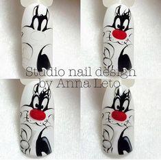24 ideas for fails design cute mickey mouse Nail Art Disney, Disney Acrylic Nails, Disney Inspired Nails, Sculpted Gel Nails, Nail Drawing, Animal Nail Art, Painted Nail Art, Latest Nail Art, Cat Nails