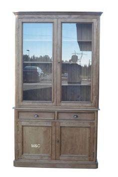 antique 1850 39 s hutch cabinet sideboard primitive shaker walnut wood china cabinet french. Black Bedroom Furniture Sets. Home Design Ideas