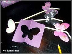 Cut out butterflies and make some nice straws for the drinks in your party. X