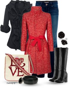 """Love"" by kimberly-lp on Polyvore  L O V E the coat!!!!! <3"