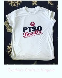 Custom Made PTSO's T-Shirts  #ptso #schooltshirt #ptoshirts #custommade #bevillemiddleschool #cynthiascraftsinvirginia #tshirts #sublimationprinting #woodbridgeva