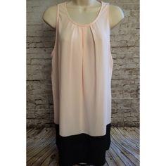 🎉Host Pick🎉Adorable boutique tunic dress Light pale pink bodice with color block black skirt. boutique Dresses