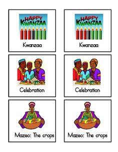 FREE Kwanzaa Symbol Matching Game