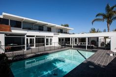 Lavish pool and deck area adds to the contemporary appeal of the home